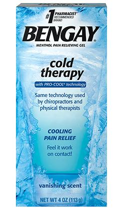 Bengay Cold Therapy with Pro-Cool Technology Vanishing Scent Menthol Pain Relieving Gel - 4 oz (113 g)